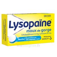 LYSOPAÏNE Comprimés à sucer maux de gorge sans sucre 2T/18 à  VIERZON