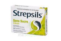 STREPSILS CITRON SANS SUCRE, pastille édulcorée à l'isomalt, au maltitol et à la saccharine sodique à  VIERZON