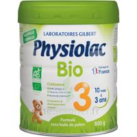 Physiolac Bio Lait 3éme Age 800g à  VIERZON
