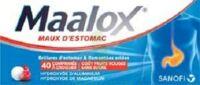 Maalox Maux D'estomac Hydroxyde D'aluminium/hydroxyde De Magnesium 400 Mg/400 Mg Sans Sucre Fruits Rouges, Comprimé à Croquer édulcoré à La Saccharine Sodique, Au Sorbitol Et Au Maltitol à  VIERZON