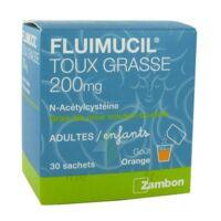 FLUIMUCIL EXPECTORANT ACETYLCYSTEINE 200 mg SANS SUCRE, granulés pour solution buvable en sachet édulcorés à l'aspartam et au sorbitol à  VIERZON