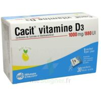 CACIT VITAMINE D3 1000 mg/880 UI, granulés effervescents 90Sach/8g à  VIERZON