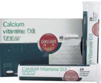 Calcium Vitamine D3 Teva 500 Mg/400 Ui, Comprimé à Sucer Ou à Croquer à  VIERZON