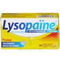 LYSOPAÏNE MAUX DE GORGE CETYLPYRIDINIUM LYSOZYME FRAISE SANS SUCRE, comprimé à sucer édulcoré au sorbitol et à la saccharine à  VIERZON