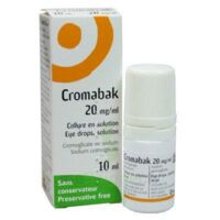 CROMABAK 20 mg/ml, collyre en solution à  VIERZON