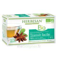 Herbesan Infusion Bio Tisane transit facile 20 Sachets à  VIERZON
