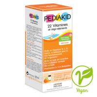 Pédiakid 22 Vitamines et Oligo-Eléments Sirop abricot orange 125ml à  VIERZON